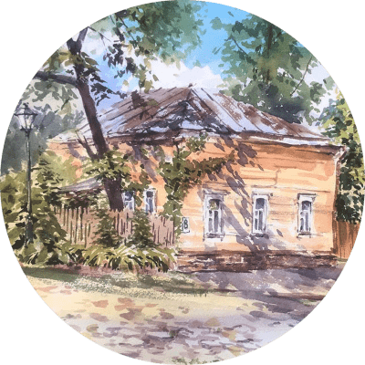 Акварельные выходные в Гороховце с Еленой Власовой 5 — 7 июля 2019г.