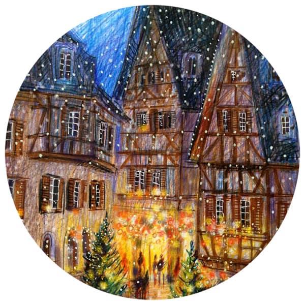 «Рождественский Страсбург» цветными карандашами с Анастасией Lavru 14 декабря