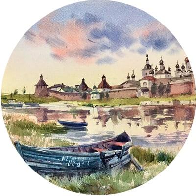 Соловецкий остров в акварели с Еленой Власовой 26 июля -1 августа 2020г